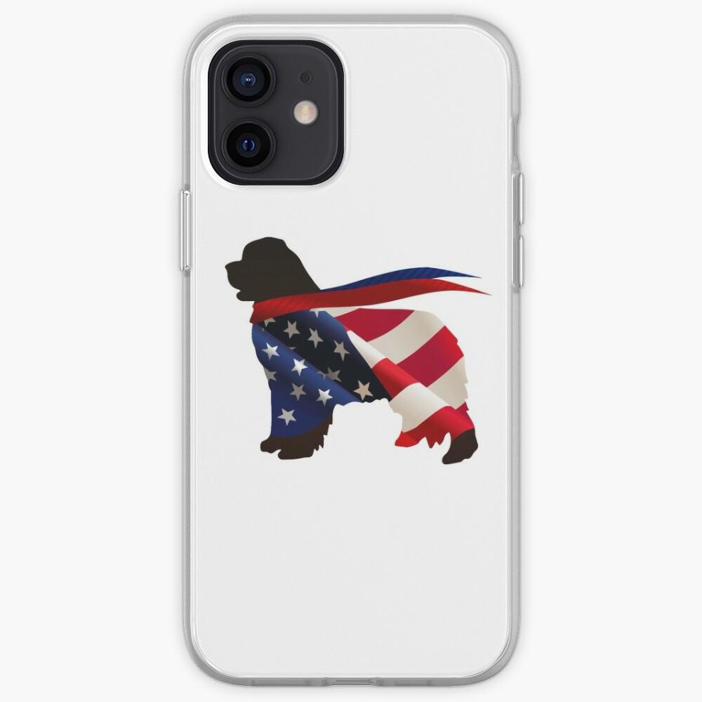 Patriotic Newfie iPhone Case & Cover