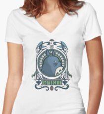 Forest Spirit Nouveau Women's Fitted V-Neck T-Shirt