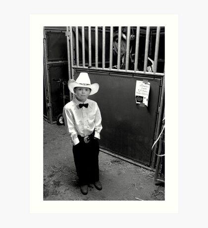 Cowboy & His Horse Art Print