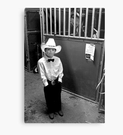 Cowboy & His Horse Metal Print