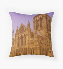 York Minster, York, England Throw Pillow