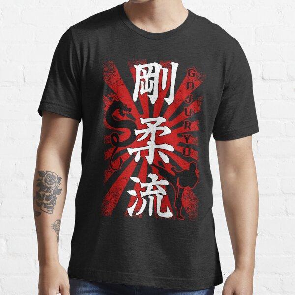 Goju Ryu - Fighter Dragon, Goju Ryu Karate Kanji Essential T-Shirt