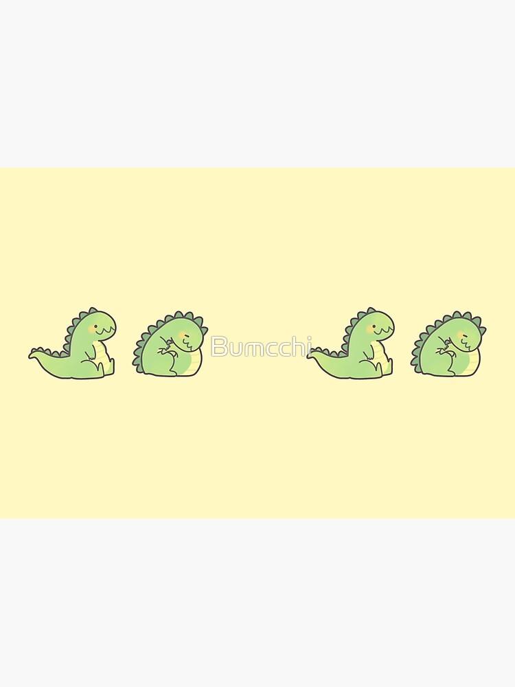 Cute Chubby Sleepy Dragon - Green by Bumcchi