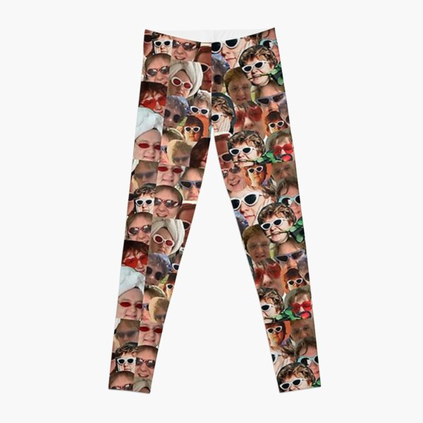 face collage Leggings