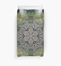 Green Kaleidoscope Duvet Cover