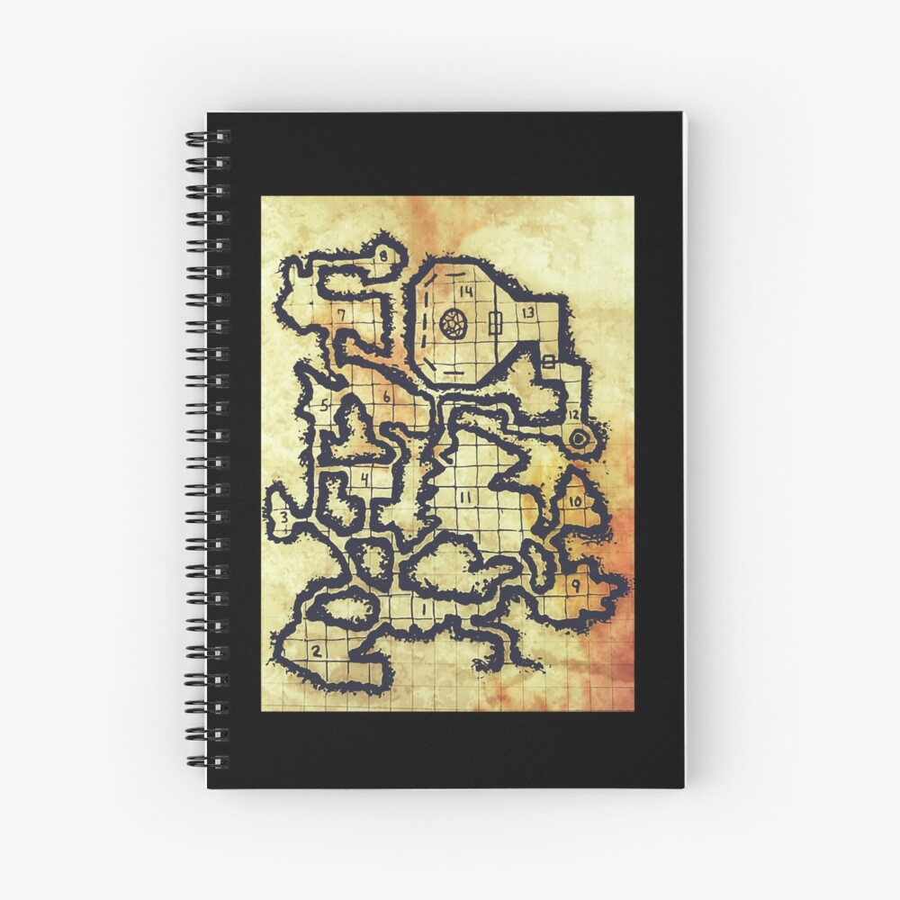 Illusory Caves (old parchment)  Spiral Notebook