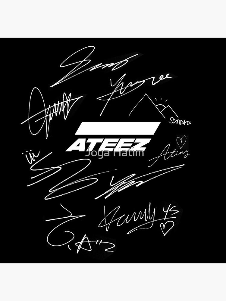 Ateez - logo + signatures - black by joyahatim
