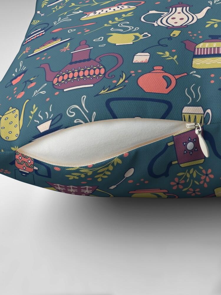 Alternate view of Teapots #3 Throw Pillow