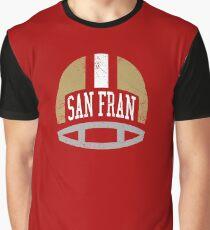 San Fran Retro Helmet - Red Graphic T-Shirt