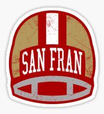 San Fran Retro Helmet - Red Sticker