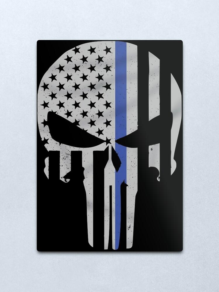 Alternate view of Military Skull [Tactical Flag] Metal Print
