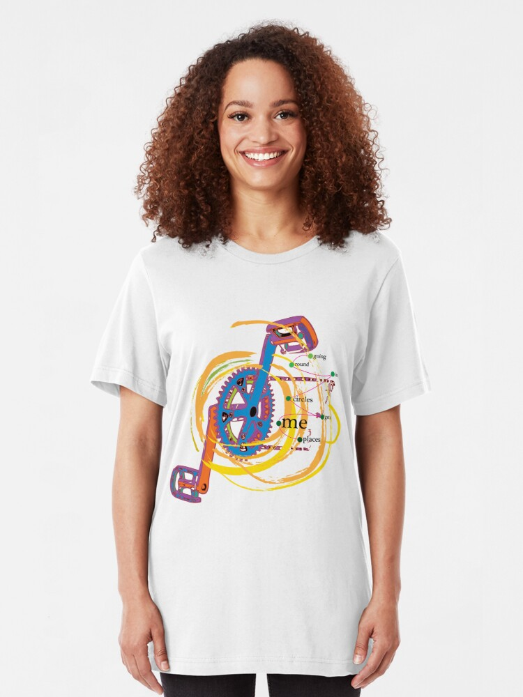 Alternate view of Going Round in Circles gets me Places Slim Fit T-Shirt