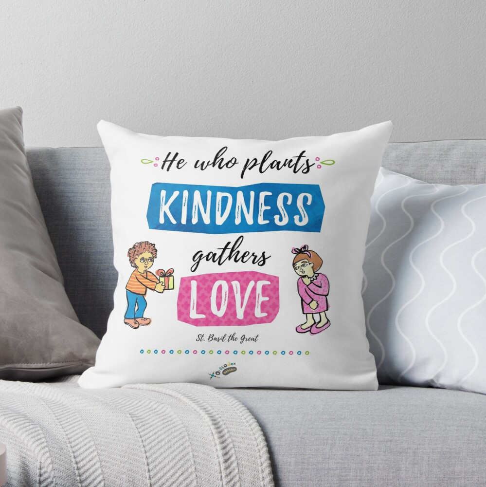 St. Basil quote Throw Pillow