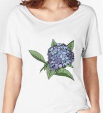 Hydrangea Blue Women's Relaxed Fit T-Shirt