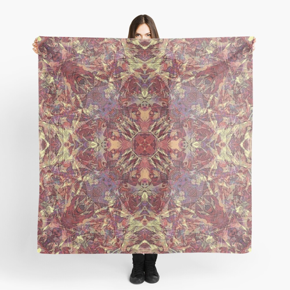 AUTUMN FALLEN OAK LEAVES MANDALA Scarf