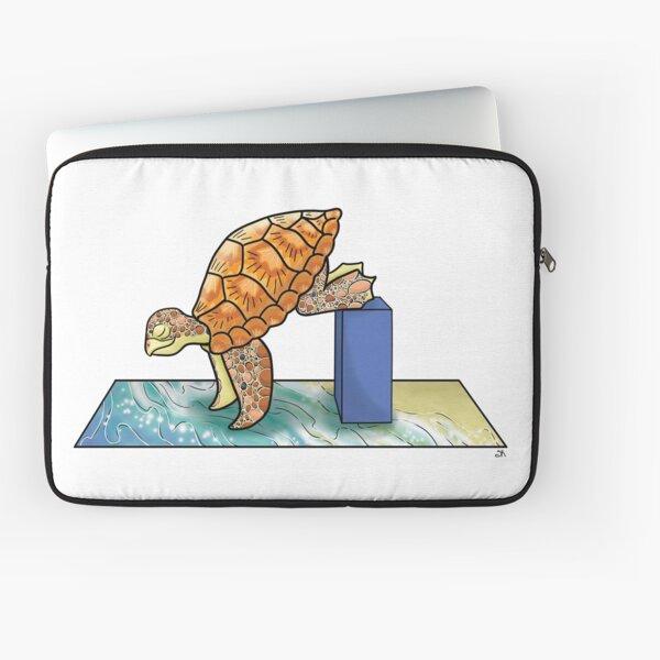 Turtle in Crane Yoga Pose Laptop Sleeve