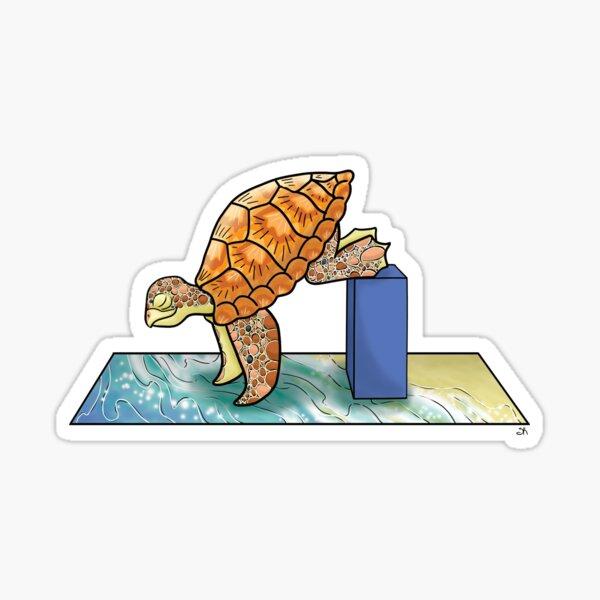 Turtle in Crane Yoga Pose Sticker