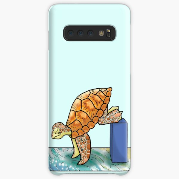 Turtle in Crane Yoga Pose Samsung Galaxy Snap Case