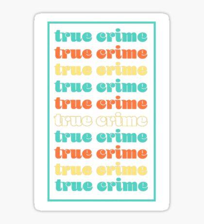 True Crime Vintage Aesthetic Sticker