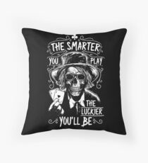 Poker Death - The smarter you play the Luckier you'll be Floor Pillow