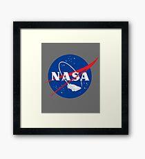 NASA Back 2 Future Framed Print