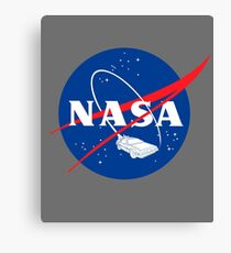 NASA Back 2 Future Canvas Print