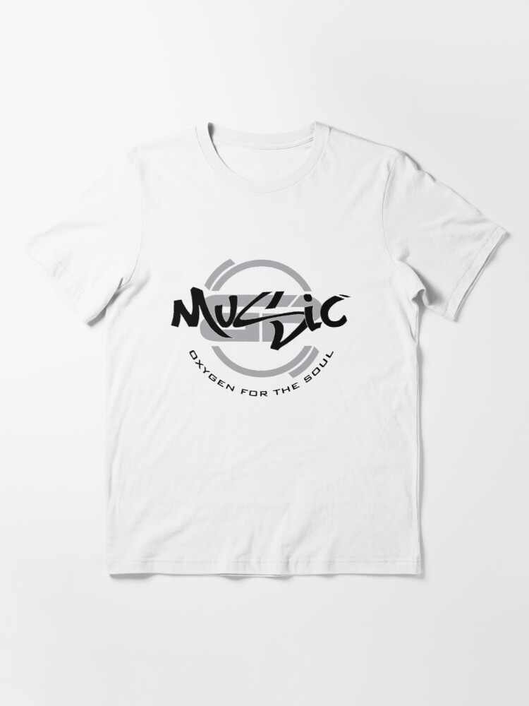 Alternate view of Music-Oxygen For The Soul Essential T-Shirt