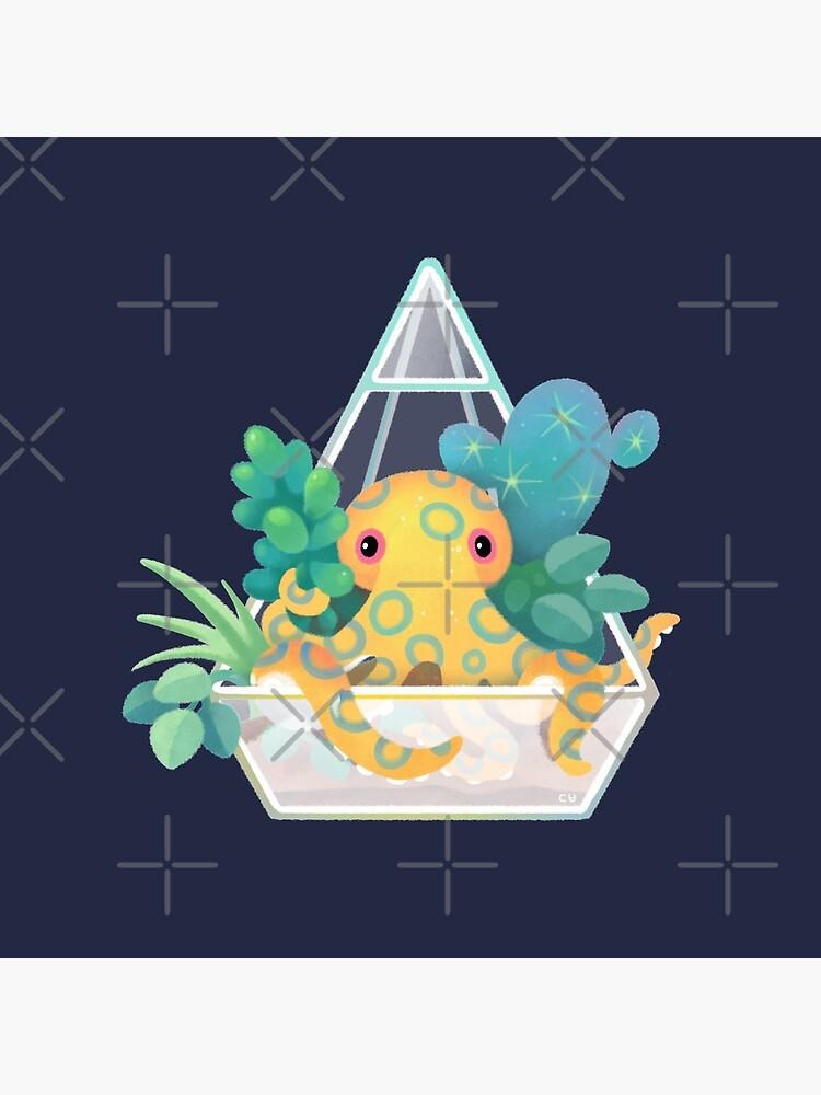 Ocean terrarium - Blue ringed octopus by pikaole