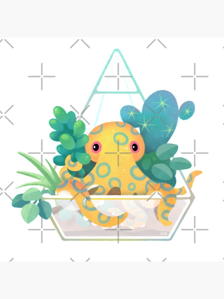 Ocean terrarium - Blue ringed octopus by pikaole