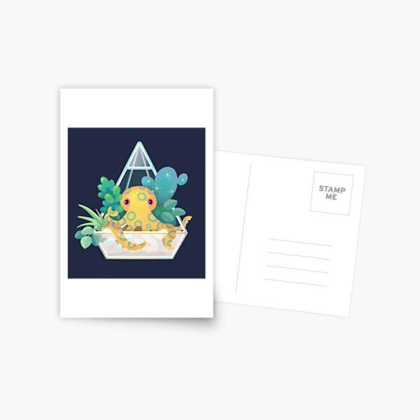 Ocean terrarium - Blue ringed octopus Postcard