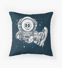 Space Skating Skull Floor Pillow