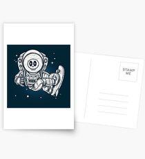 Space Skating Skull Postcards