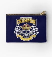 Racing Champion Skull Pistons Zipper Pouch