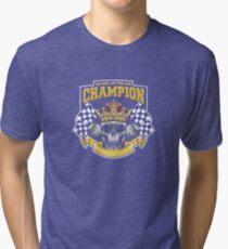 Racing Champion Skull Pistons Tri-blend T-Shirt