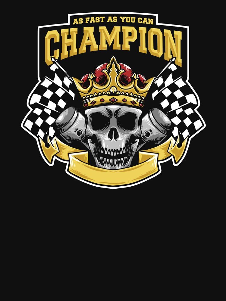 Racing Champion Skull Pistons by Chocodole