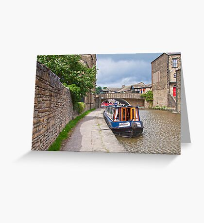 Skipton Canal Greeting Card