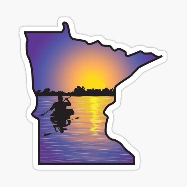 Kayaking Minnesota Sticker