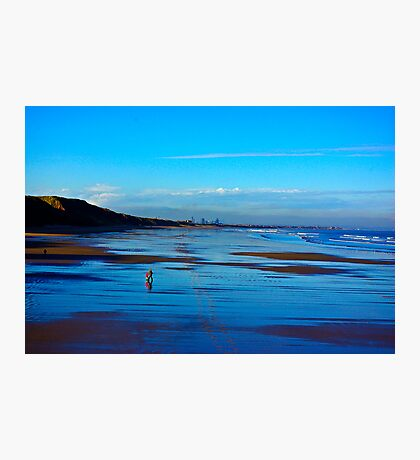 Strolling on the Beach - Saltburn Photographic Print