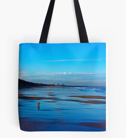 Strolling on the Beach - Saltburn Tote Bag
