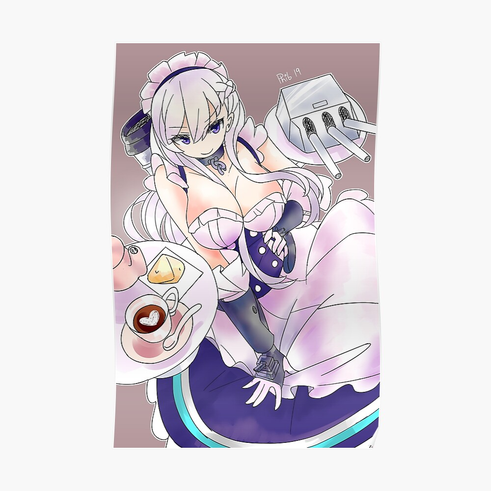 Azur Lane Belfast Sticker By Phib Redbubble All posts should be related to azur lane. redbubble