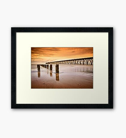 The Old Piers, North Sands, Hartlepool. UK Framed Print