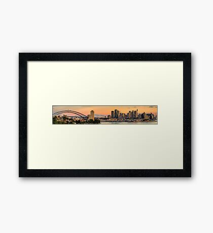 Vista - Sydney Harbour (35 Exposure HDR Panorama) - The HDR Experience Framed Print