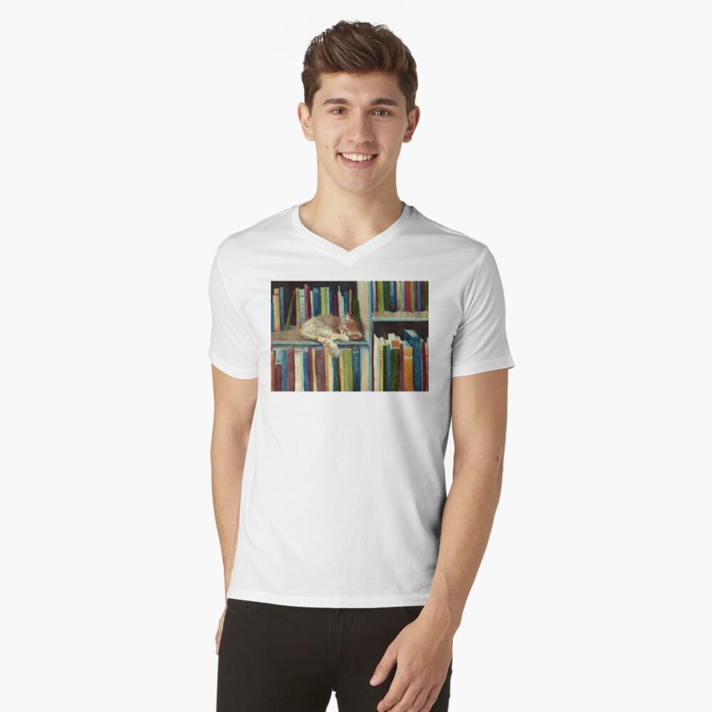 Bastante bien leído Camiseta de cuello en V