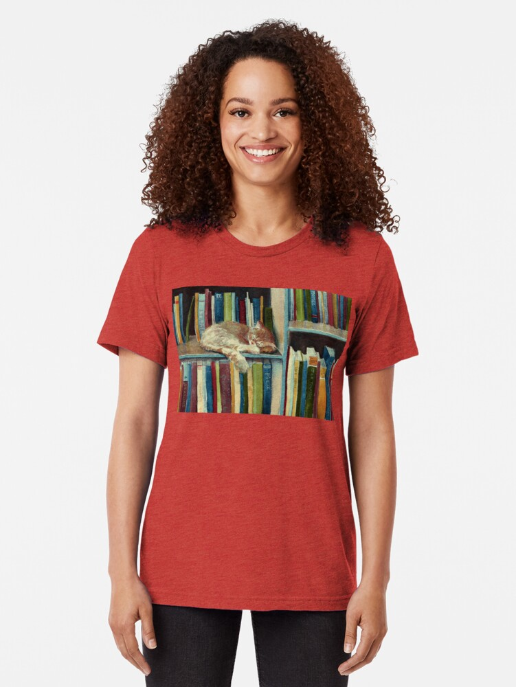 Vista alternativa de Camiseta de tejido mixto Bastante bien leído