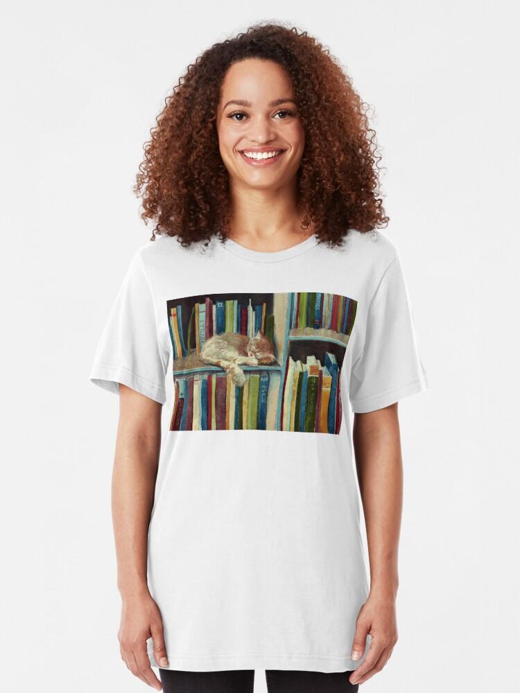 Vista alternativa de Camiseta ajustada Bastante bien leído