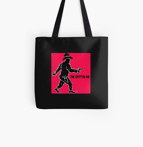 The Cryptid Kid- the fastest shot with the biggest feet in the Old West! All Over Print Tote Bag