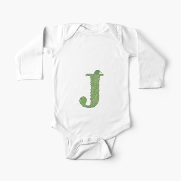 Alphabet J - Hedgehog Colour  Long Sleeve Baby One-Piece