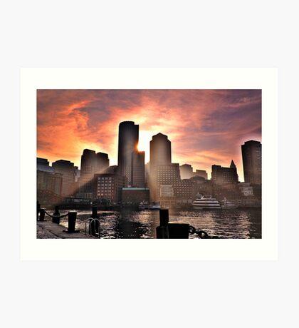 Ray of Sun, Boston, MA Art Print