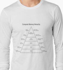 Camiseta de manga larga Diagrama de la jerarquía de la memoria del ordenador