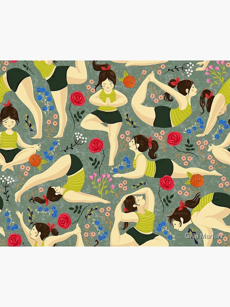 Yoga Liebe in blau von gaiamarfurt